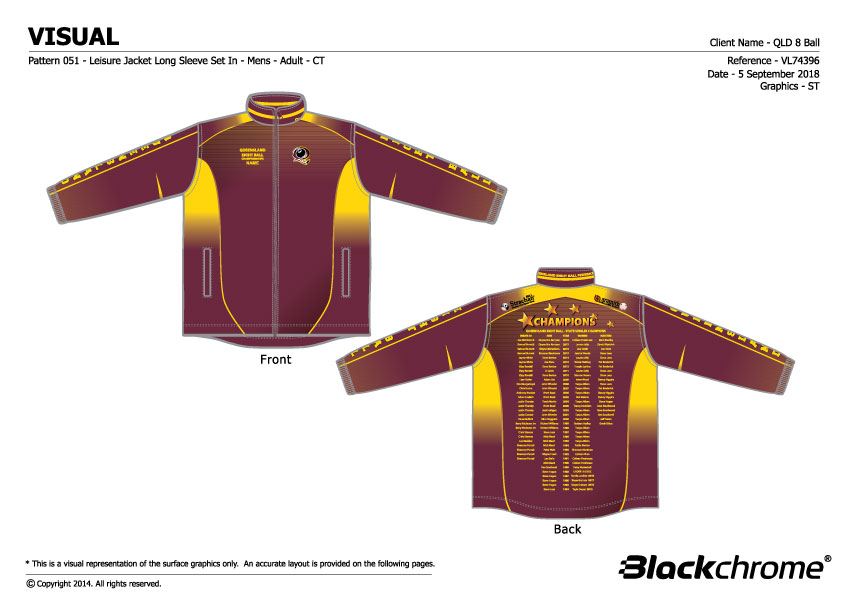 QLD State Team Jacket Senior Champions
